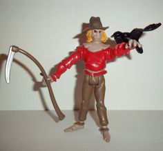 Kenner hasbro action figures for sale to buy Batman the animated series 1994 SCARECROW 100% COMPLETE condition: overall excellent - nice paint, nice joints. nothing broken, damgaed, or missing. Figure