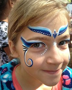 Images For > Simple Face Painting Designs For Girls Eye Face Painting, Face Painting For Boys, Face Painting Designs, Face Art, Face Paintings, Paint Designs, Boy Face, Holidays With Kids, Art For Kids
