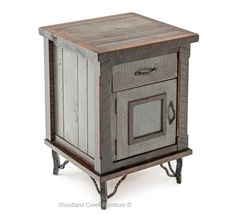 Elegant Cottage Nightstand Our elegant cottage nightstand or end table exemplifies rustic sophistication and refinement. Customers have asked us for furniture that is rustic but also refined or elegant. This new collection has the perfect balance between rusticity and refinement. The wood used in the collection is wormy maple. Maple has wonderful natural character.  The drawers feature