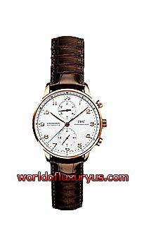 IW371402 -  This IWC Portuguese Automatic Chronograph watch in rose gold features a 41mm case, a silver dial, and a crocodile strap. The IWC Portuguese Chronograph watch also features an automatic movement. This watch is water resistant to 30 meters. - See more at: http://www.worldofluxuryus.com/watches/IWC/Discontinued-Models/371.402/185_789_1003.php#sthash.ZIdYI3bg.dpuf