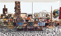snow leopard New York Penthouse, Manhattan Penthouse, Luxury Penthouse, Diane Von Furstenberg, Bureau Design, Architectural Digest, Home Office Design, House Design, Sweet Home