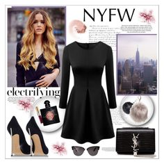 """""""NYFW heat"""" by kitty-kat9 ❤ liked on Polyvore featuring Nila Anthony, Yves Saint Laurent, Casadei, NARS Cosmetics, Tom Ford, women's clothing, women, female, woman and misses"""
