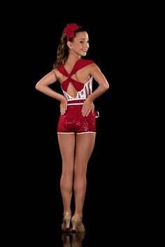 Red & White Candy Stripe Dance Costume - Candy - Jazz Tap