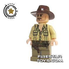 LEGO Indiana Jones Mini Figure - Indiana Jones Open Shirt | Indiana Jones LEGO Minifigures | LEGO Minifigures | FireStar Toys