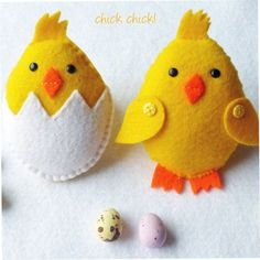 Felt Easter Chick PDF Pattern - Fun and Easy-to-Sew This is a downloadable PDF sewing pattern and tutorial to make two delightful chicks which are 4 inches tall and made from felt. They will make adorable ornaments as well as lovely little gifts to add to your Easter basket. PLEASE NOTE: This is not a finished item and you will not receive the finished chicks or supplies in the post. ****************************************** You will receive a material list and instructions with pictur...