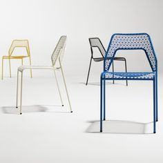 Designed in house by Blu Dot in Minnesota, this best-selling chair in the US is exclusive to Heal's in the UK. Inspired by classic wooden steam-bent bistro chairs, the use of steel tube and mesh gives a modern rendition of the interlocking rails and woven seat of the original.