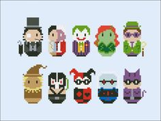 Batman's enemies - Mini People - Pattern by CloudsFactory