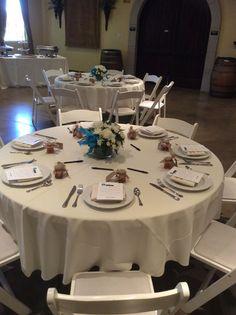 Bridal shower table set up with mini honey jar favors. Winery Bridal Showers, Bridal Shower Tables, Honey Jar Favors, Table Set Up, Table Settings, Table Decorations, Mini, Home Decor, Decoration Home
