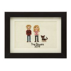 Custom Cross Stitch People Portrait, $175, by Elizabeth Dabczynski