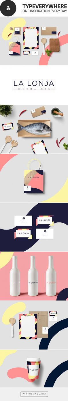 LA LONJA mucha sal via  Typeverywhere Designed by Sara Enríquez curated by Packaging Diva PD. A selection of good design projects including packaging focused on typography, modernism and simplicity.