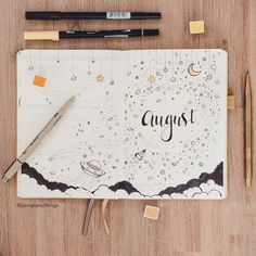 """122 Likes, 7 Comments - Jann's Scribbles (@jannplansthings) on Instagram: """"I had one lovely day journalling and spending time with the hubby. Means August is set up! I went…"""""""