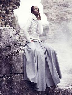 chris nicholls 2028 Herieth Paul Gets Grey for Fashion September 2013 by Chris Nicholls