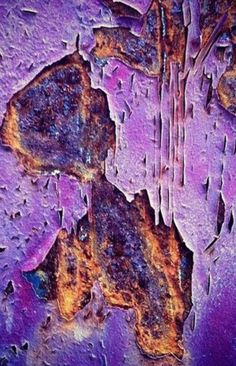 weathered world of rust, decay and texture- purple Art Grunge, Rust Paint, Peeling Paint, Nature Artwork, Rusty Metal, Art Abstrait, All Things Purple, Shades Of Purple, Purple Haze