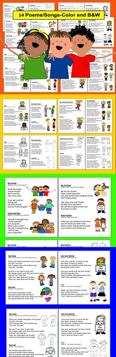 $3.25 Back to School Emergent Readers   -28 Page Download - Set 1-Two Different Reading Levels – Emergent Reader & Harder-  5 versions of each book-10 versions in all - Easy Assembly -Choices:  full color illustrations OR black and white  OR illustrate their own OR Write their own.  Pocket chart vocabulary cards included (with illustrations when appropriate).  8 Pages Per Book (cover and 7 pages).