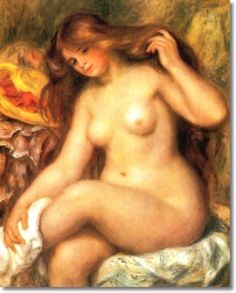 Renoir's Bather - a typical beauty from 1903. Once upon a time we knew women were supposed to have curves. Those curves were coveted. They were the ideal.