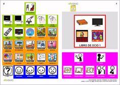 Libro de comunicación aumentativa y alternativa sobre el ocio (1). Autores: J. M. Marcos y D. Romero. Pictogramas ARASAAC, elaborados por Sergio Palao.