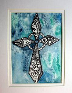 Zentangle Cross - Ragtop Designs I would love for you to do this for me!