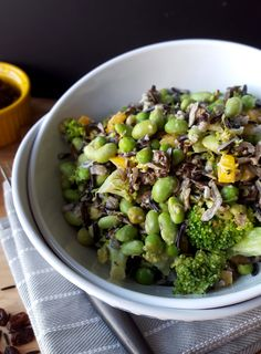 This vegan, gluten-free and oil-free protein-packed wild rice and broccoli salad works as a side dish or can stand alone as a nutritious and filling entree.
