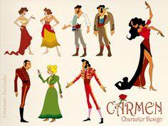 """Creación de personajes para la ópera """"Carmen"""" de Bizet. App disponible en el App Store y en Google Play de la mano de Touch of Classic"""
