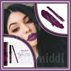 KOURT KKylie Lip KitNIB NO TRADESPRICE IS FIRM        .  ✅BUY W/CONFIDENCE✅% AUTHENTIC  Kourt K is a deep purple.   Kit Contains:  1Matte Liquid Lipstick (0.11 fl oz./oz. liq / 3.25 ml) 1Pencil Lip Liner (net wt./ poids net  .03 oz/ 1.0g)  The ultra-long wearing lip liner has a creamy texture that glides across the lips for a very easy and comfortable application.  The extremely long wearing Liquid Matte Lipstick has high intensity pigment for an instant bold matte lip. Kylie Cosmetics…