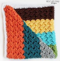 Crochet Blanket Stitch Blanket Pattern - Free Crochet Baby Blanket from Rescued Paw Designs