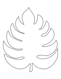 Leaves Template Free Printable, Fall Leaf Template, Free Printable Artwork, Flower Template, Printable Designs, Free Applique Patterns, Applique Templates, Paper Flower Patterns, Paper Flowers Diy