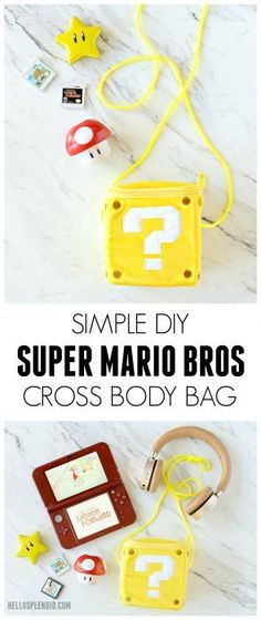 Super Mario Bros DIY Cross Body Bag | Super Mario DIY | Nintendo DIY | Mario Bros Coin Box DIY from Hello Splendid http://www.hellosplendid.com