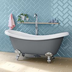 The UK's most reputable online bathrooms retailer. Our stock consist of bathroom suites, furniture, shower enclosures & much more with 10 year warranty. Laundry In Bathroom, Slipper Bath, Roll Top Bath, Bathroom Suites, Bathroom Layout, Barndominium Floor Plans, Free Standing Bath Tub, Bathroom Decor, Tile Bathroom