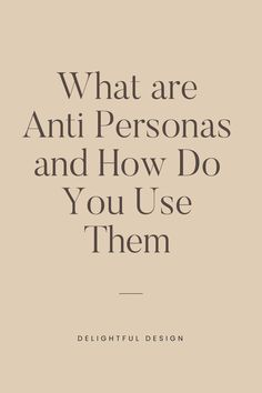 Are you interested to know what an-anti persona is ? Read on to find out Web Design Tips, Web Design Trends, Design Layouts, Blog Design, Design Design, Personal Website Design, Minimal Website Design, Website Design Inspiration, Graphic Design Inspiration