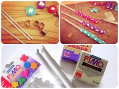 How to make polymer clay crochet hook handles