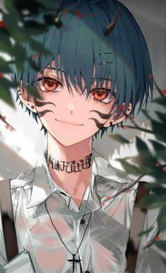 Anime Demon Boy, Anime Bad Boy, Anime Devil, Dark Anime Guys, Cool Anime Guys, Handsome Anime Guys, Anime Art Girl, Anime Chibi, Anime Oc