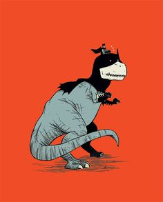 Tyrannosaurus Bats by Dustin Harbin.