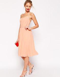 ASOS | ASOS Ruched Full Midi Bandeau Dress at ASOS