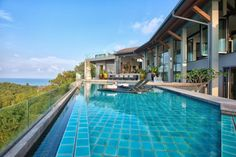 (CREDITS: Tripadvisor)  Ten Holiday Villas With Beautiful Swimming Pools:  Villa J, Koh Samui, Thailand (A fusion of modern Thai interiors and antique Asian furniture merge seamlessly in this gorgeous villa and the panoramic sea views from the tempting infinity pool are second to none. Sleeps eight. From £11,032 per week)