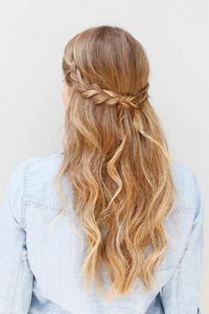 coiffure avec tresse, jolie coiffure bohémienne