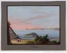 I Bagnoli : [vue générale de la baie de Naples depuis le quartier du bagne] : [peinture]