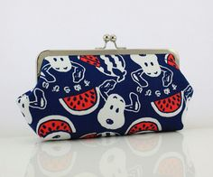 Snoopy in Japan  8 inches Large Frame Clutch  the Emma by FA2u, $32.90
