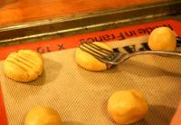 making peanut-butter cookies in home Home economics in highschool