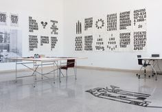 Eike König Types Of Art, Type Art, Exhibition Space, News Design, Villa, Typography, Interior, Prints, Home Decor