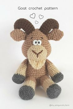 Cute crochet animals, amigurumi patterns #amigurumi #crochet #pattern #cuteanimals #etsy #pdfpattern #crochetpattern #amigurumipattern #häkeln #ganchillo #kroşe #crochê #crochetideas #crochetaddict #crochetlove #easycrochet #goat #crochetgoat #amigurumigoat #crochetgoatpattern