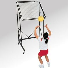 Volleyball Training Aids - maybe I can make w/pvc pipes and soccer training… Volleyball Practice, Volleyball Setter, Volleyball Workouts, Volleyball Quotes, Volleyball Room, Volleyball Shirts, Volleyball Pictures, Volleyball Cheers, Coaching Volleyball