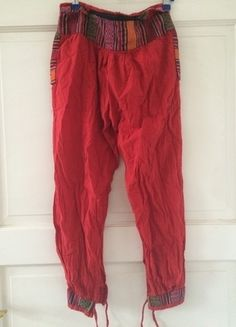 Kaufe meinen Artikel bei #Kleiderkreisel http://www.kleiderkreisel.de/damenmode/haremshosen/123516972-haremshose-pumphose-aladdinhose-stoffhose-rot-ethno-hippie-goa-boho-vintage-baumwolle