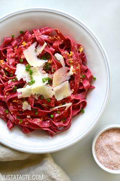 Pink pasta recipe beetroot