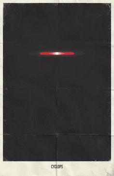 Minimalist Marvel Comics Posters by Marko Manev - Cyclops Poster Marvel, Marvel Movie Posters, Superhero Poster, Comic Poster, Poster On, Film Posters, Superhero Movies, Minimalist Poster Design, Minimalist Art