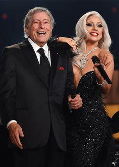 "ladvxgaga: ""Lady Gaga & Tony Bennett perform at the GRAMMY Awards. Lady Gaga Photos, Shows In Nyc, Mtv Unplugged, Legendary Singers, Tony Bennett, Celebrity Crush, Amazing, Beautiful People, Celebs"
