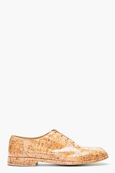 MAISON MARTIN MARGIELA Tan Varnished Cork shoes