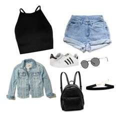 """Untitled #5"" by paume24 on Polyvore featuring Boohoo, Levi's, Hollister Co., adidas, STELLA McCARTNEY and Ray-Ban"