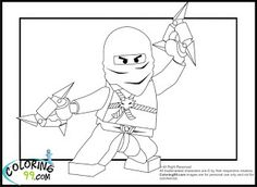 LEGO Ninjago Zane Coloring Pages | Coloring99.com