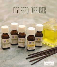 Aromatherapy at home doesn't get any easier than this DIY reed diffuser! #essentialoils