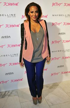 Adrienne Bailon colorblocking